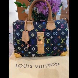 💙💜💚Louis Vuitton Speedy 30 Multi Color 💚💜💙